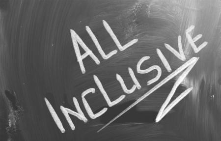 inclusive: All Inclusive Concept Stock Photo