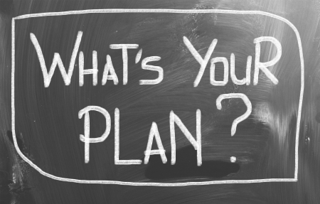 company vision: Whats Your Plan Concept