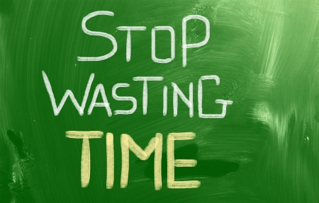 waste money: Stop Wasting Time concept