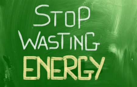 Stop Wasting Energy Concept photo