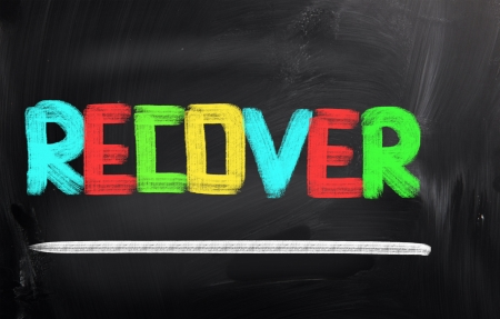 recover: Recover Concept Stock Photo
