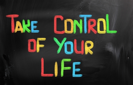Take Control Of Your Life Concept Standard-Bild