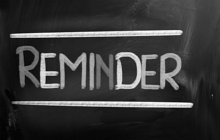 reminder concept: Reminder Concept Stock Photo