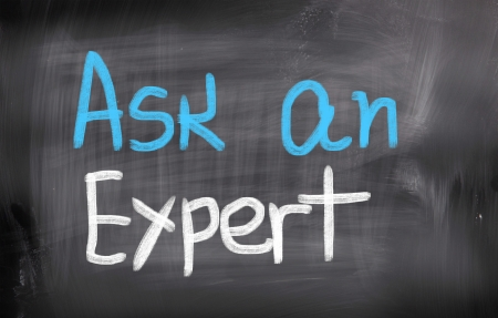 warranty questions: Ask An Expert Concept Stock Photo