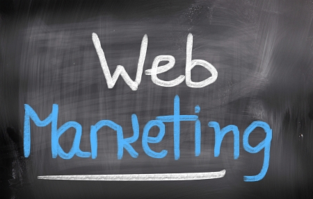 webmarketing: Web Marketing Concept Stock Photo
