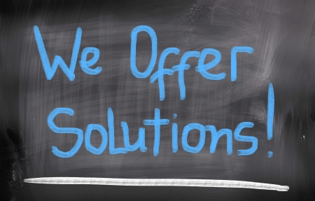 We Offer Solutions Concept photo