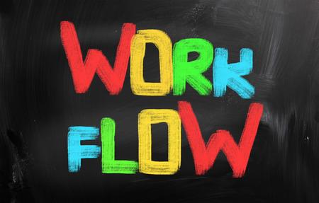 Work Flow Concept photo