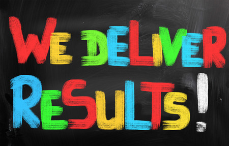 We Deliver Results Concept photo