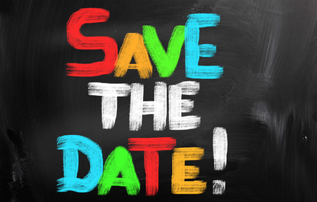 save the date: Save The Date Concept Stock Photo