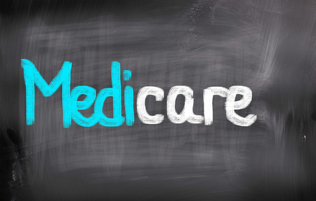 medicare: Medicare words on blackboard
