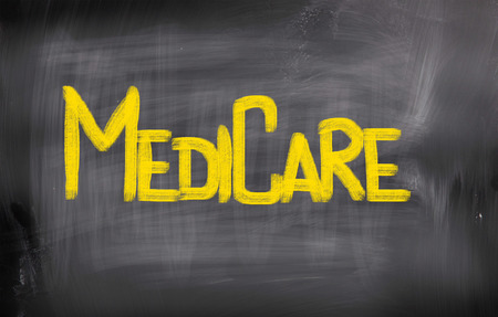 Medicare words on blackboard photo