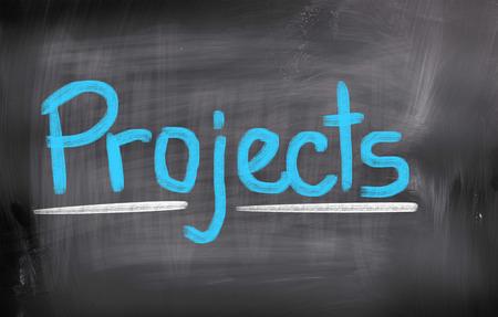 Project word on blackboard photo