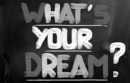 Whats Your Dream words on blackboard photo