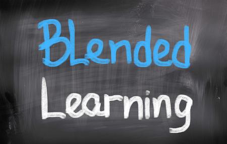 blended: Blended Learning words on blackboard
