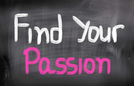 i like my school: Find Your Passion words on blackboard
