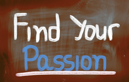 Find Your Passion words on blackboard photo