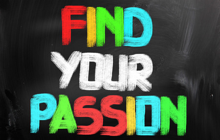 Find Your Passion words on blackboard