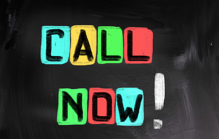 call us: Call Now Concept Stock Photo