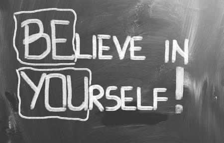 자신에 대한 믿음 개념 스톡 콘텐츠