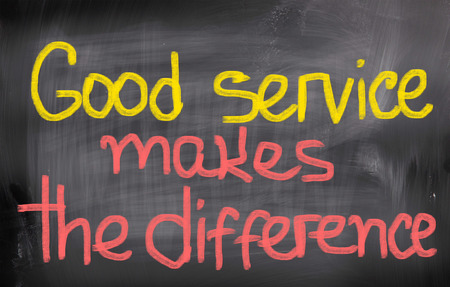 good service: Good Service Makes The Difference Concept