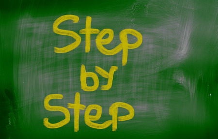 better chances: Step By Step Concept Stock Photo