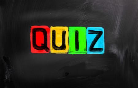 quizzing: Quiz Concept Stock Photo
