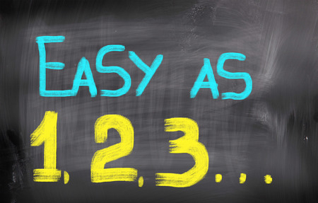 Easy As 123 Concept