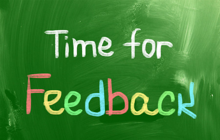Time For Feedback Concept Stock Photo