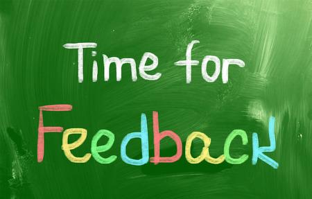 criticize: Time For Feedback Concept Stock Photo