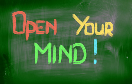 open minded: Open Your Mind Concept