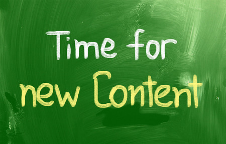 backlink: Time For New Content Concept