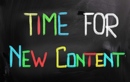 Time For New Content Concept Stock Photo - 26075794