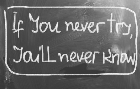 try: If You Never Try Youll Never Know Concept