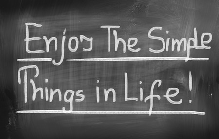 mindfulness: Enjoy The Simple Things Concept