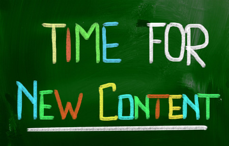 Time For New Content Concept Stock Photo - 26125305