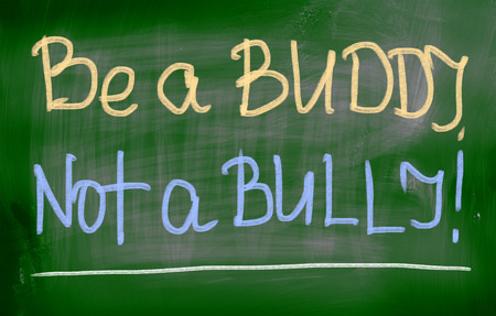 bully: Be A Buddy Not A Bully Concept Stock Photo