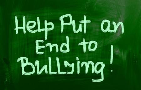 bulling: Ayudar a poner fin a la intimidación Concept