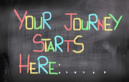 getting started: Your Journey Starts Here Concept