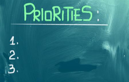 undertaking: Priorities Concept