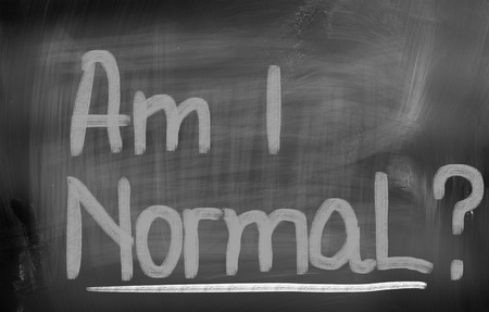 self worth: Am I Normal Concept Stock Photo