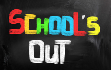 Schools Out Concept Stock Photo