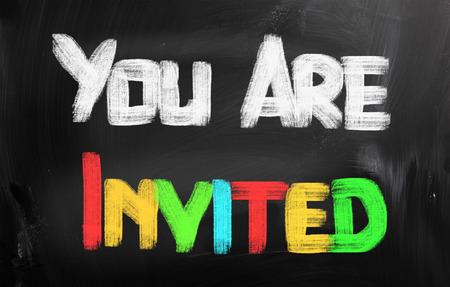 invited: You Are Invited Concept