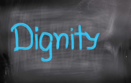 dignidad: Concepto Dignidad Foto de archivo