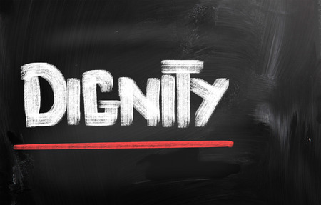 self worth: Dignity Concept
