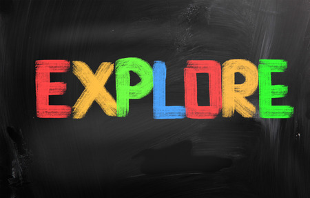 self discovery: Explore Concept Stock Photo