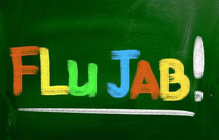 jab: Flu Jab Concept Stock Photo