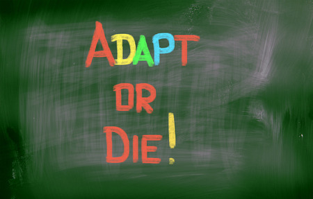 adapt: Adapt Or Die Concept Stock Photo