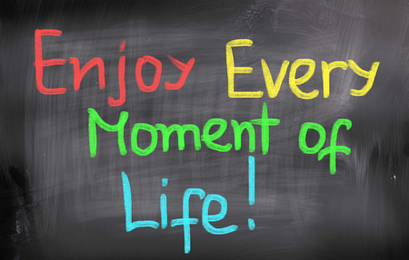 mindful: Enjoy Every Moment Of Life Concept
