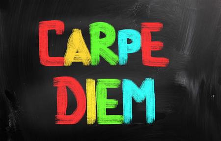 carpe diem: Carpe Diem Concept Stock Photo