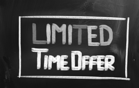 limited: Limited Time Offer Concept